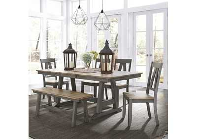 Lindsey Farm Gray/Sandstone 6 Piece Dining Set