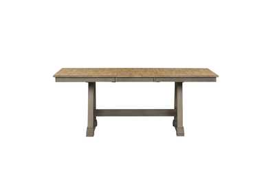 Image for Lindsey Farm Brown/Gray Extension Leaf Dining Table