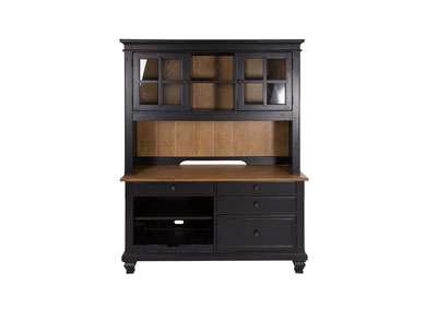 Bungalow Driftwood & Black 3 Piece Credenza