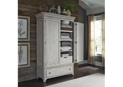 Farmhouse Reimagined White Armoire