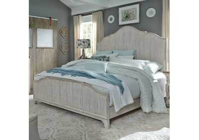 Farmhouse Reimagined White King Panel Bed
