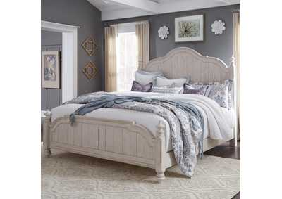 Farmhouse Reimagined White Queen Poster Bed