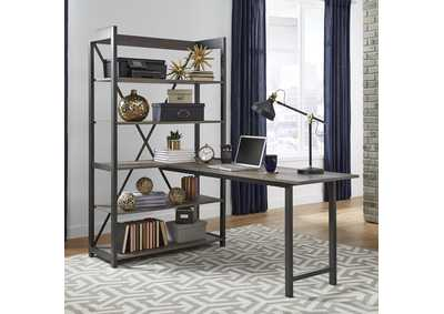 Image for Tanners Creek Gray Bookcase w/Desk Top and End Panel