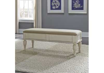 Image for Rustic Traditions II White Bed Bench (RTA)