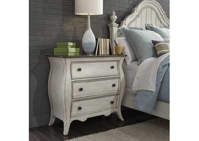 Image for Parisian Marketplace White 3 Drawer Bedside Chest w/ Charging Station