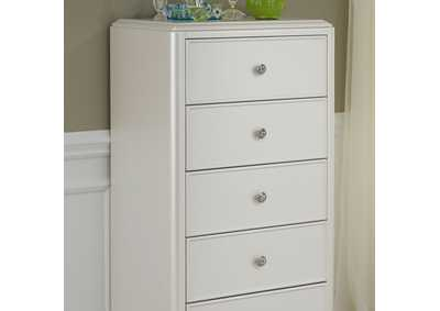Stardust White 5 Drawer Lingerie Chest