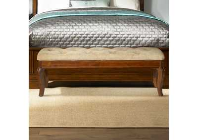 Image for Alexandria Brown Bed Bench (RTA)