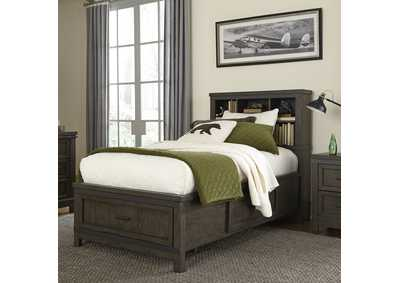 Thornwood Hills Gray Full Storage Bed w/Bookcase Headboard