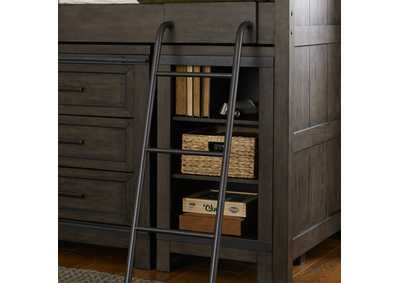 Thornwood Hills Rock Gray Low Loft Bookcase