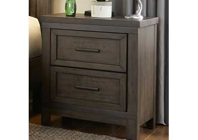 Thornwood Hills Rock Gray 2 Drawer Night Stand