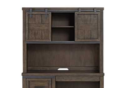 Thornwood Hills Rock Gray Double Barn Door Hutch