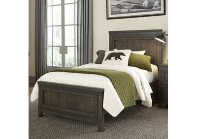 Thornwood Hills Gray Twin Panel Bed