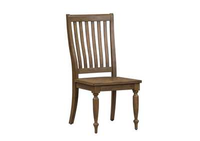 Harvest Home Brown Slat Back Side Chair (RTA),Liberty