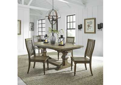 Harvest Home Brown 5 Piece Dining Set,Liberty