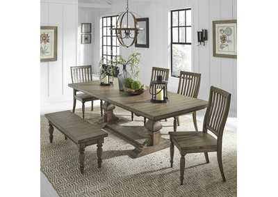 Harvest Home Brown 6 Piece Dining Set,Liberty