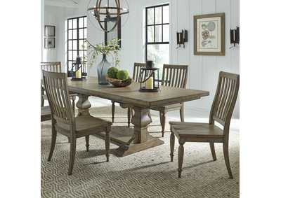 Harvest Home Brown 7 Piece Dining Set,Liberty