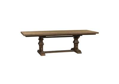 Harvest Home Brown Rectangular Extension Leaf Dining Table,Liberty