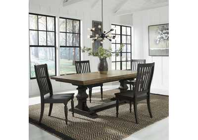 Harvest Home Chalkboard 5 Piece Dining Set,Liberty