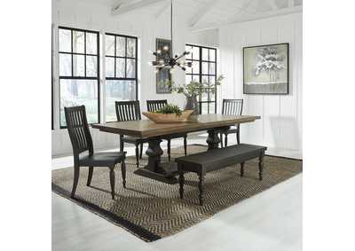 Harvest Home Chalkboard 6 Piece Dining Set,Liberty