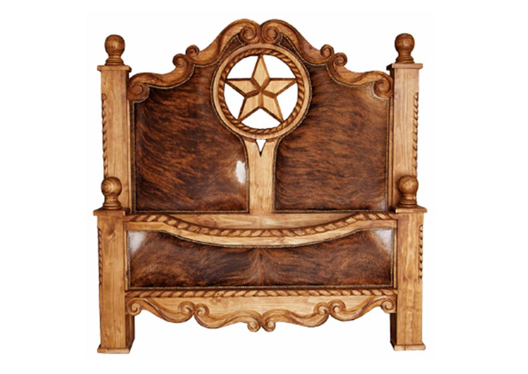 Gentil Queen Rope, Star U0026 Cowhide Bed,L.M.T. Rustic