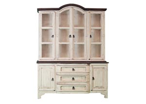 Cristy China Cabinet White/Walnut