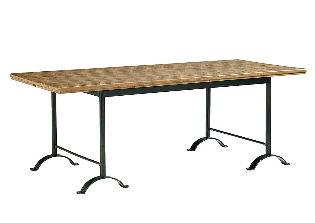 Camber 88u0027 Salvage/Chimney Metal Dining Table,Magnolia Home