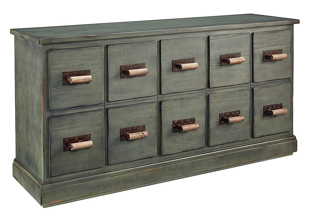 Etonnant Bin 10 Drawer Dresser, Patina Finish
