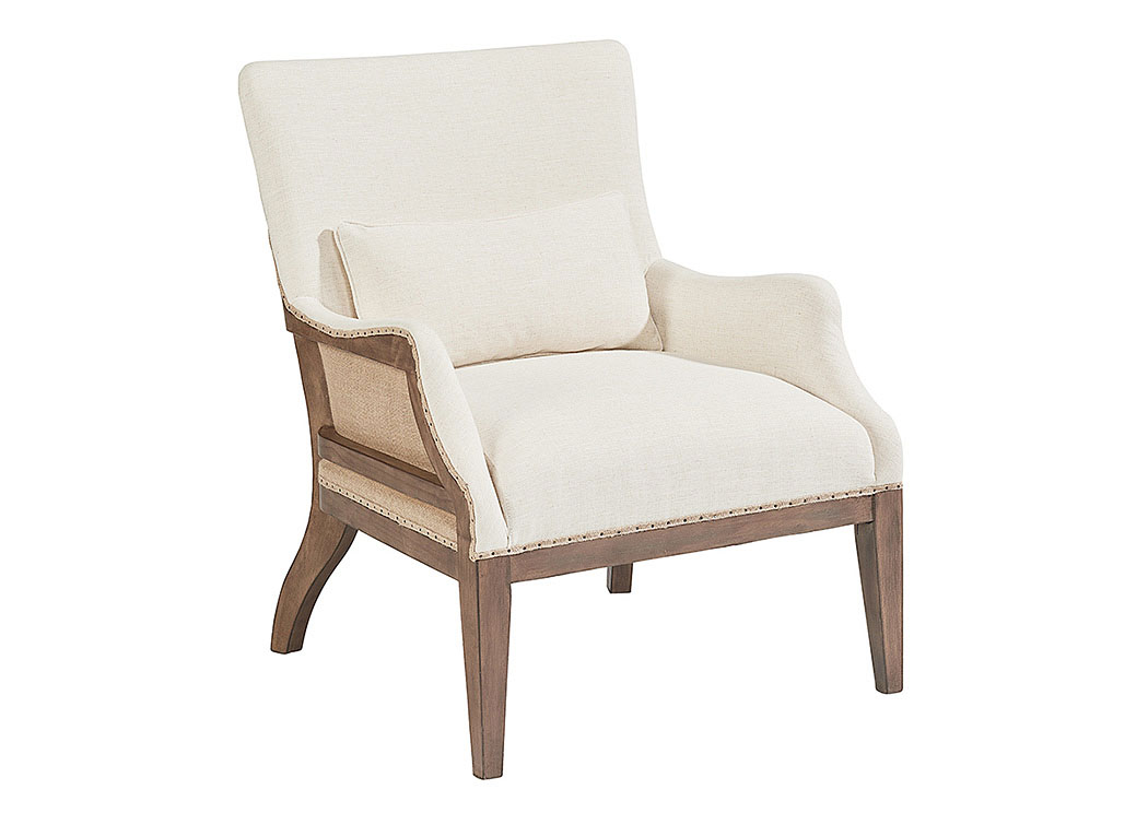 Renew Accent Chair W/Kidney Pillow, Old Saddle Nut Finish,Magnolia Home