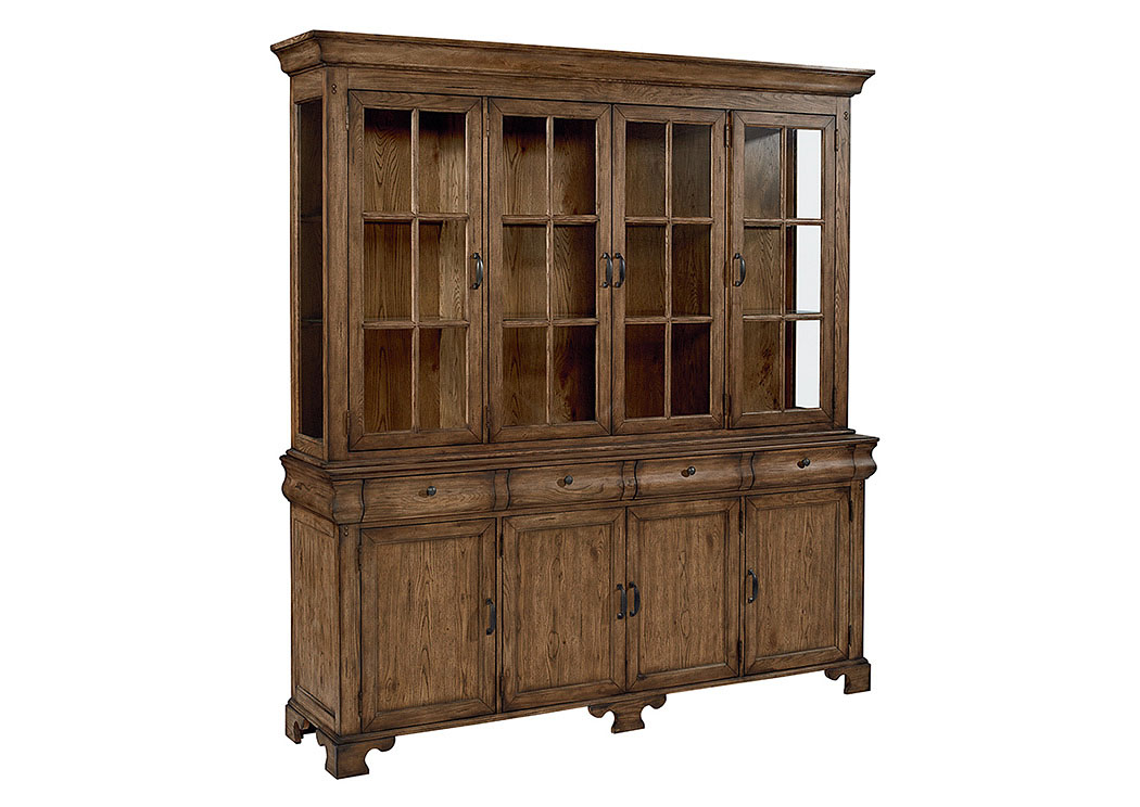 Showcase Buffet & Hutch, Shop Floor Finish,Magnolia Home