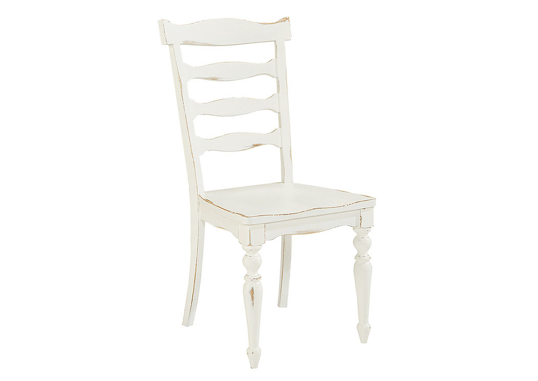 Ellis Jou0027s White Ladder Back Side Chair (Set Of 2),Magnolia Home