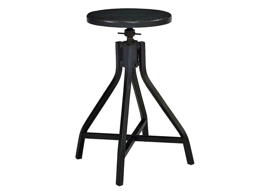 Swivel Stool,  Jo's Black Finish (Set of 2),Magnolia Home
