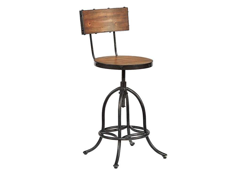 Superbe Architect Bench Finish Stool W/Blackened Bronze Legs