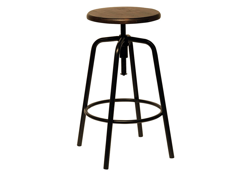 Factory Stool w/Milk Crate Seat & Blackened Bronze Legs,Magnolia Home