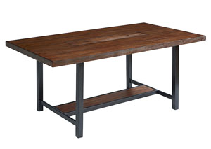 Framework 72' Milk Crate Finish Dining Table, w/Zinc Planter
