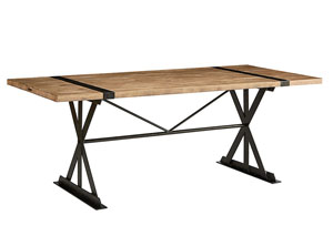 Truss & Strap Dining Table, Salvage Finish