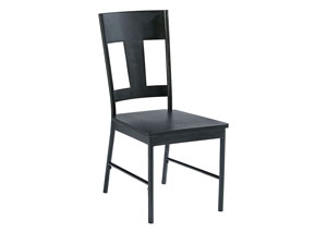 T-Back Metal Side Chair, Carbon Finish (Set of 2)