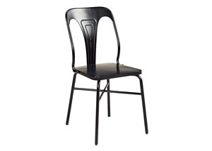 Gaven Chimney Finish Metal Stamped Chair (Set of 2)