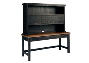 Postman's Chimney Finish Desk and Hutch w/9 Drawers
