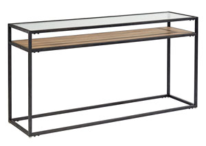 Showcase Console Table, Ranch/Carbon Finish