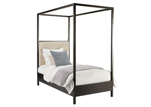 Framework Upholstered Twin Bed, Kettle Finish