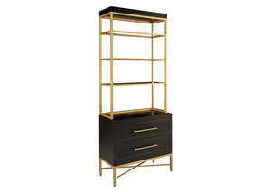 Proximity Carbon/Brushed Brass Deck & Hutch