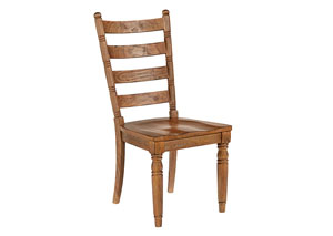 Slat Back Chair, Bench Finish (Set of 2)
