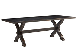 Sawbuck 87' Dining Table, Chimney Finish