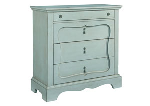 Silhouette French Blue 4-Drawer Chest