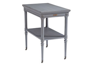 Petite Rosette French Gray Table w/Casters