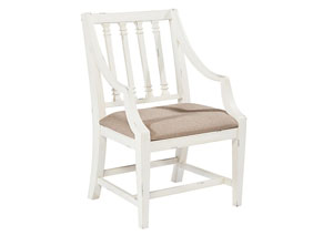 Revival Arm Chair, Jo's White Finish