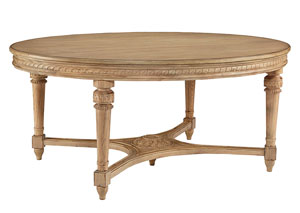 English Country Wheat Finish Oval Dining Table