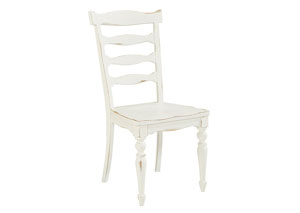 Ellis Jo's White Ladder-Back Side Chair  (Set of 2)