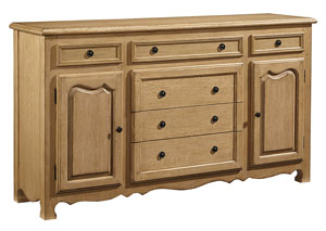 Cottage Cove Dresser/Buffet, Wheat Finish