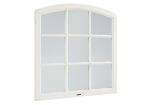 Belgian Window Mirror, Jo's White Finish